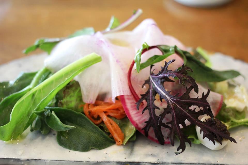 今、畑にある野菜のサラダ