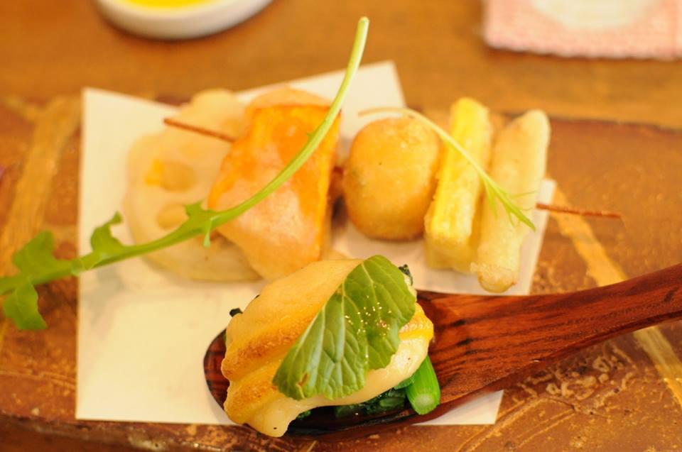 野菜のベニエ ブロシェット