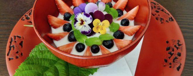フランジェリコ風味の杏仁ババロア ミルクソース のコピー
